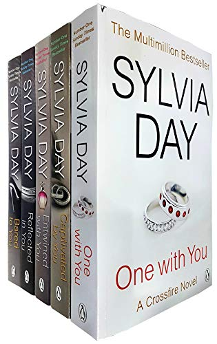 A Crossfire Novel 5 Books Collection Set By Sylvia Day (One With You, Captivated By You, Entwined With You, Reflected In You, Bared To You)