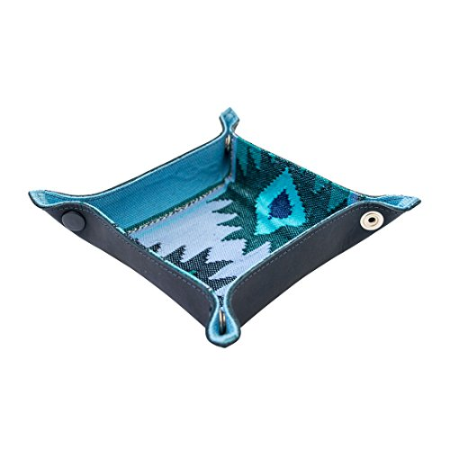 malapa Catchall Coin Box Tray Storage Valet Handmade by Hide & Drink :: Blue Sailor ()