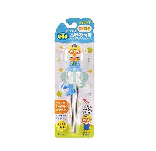 - Edison Pororo Training Chopsticks for Right-hand Children Kids [Stainless Steel]