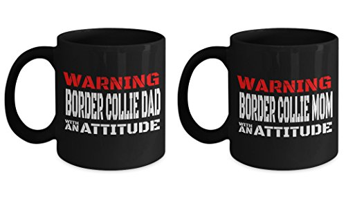 Border Collie Merchandise - Border Collie Dad Mug - 11 Oz Custom Mugs - Border Collie Themed Gifts - Border Collie Dog Mug - Mom Doggie Merchandise - Love Doggy Lover Mama