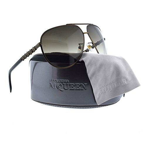 ALEXANDER MCQUEEN SUNGLASSES AMQ 4283/F/S BRASS/BROWN/