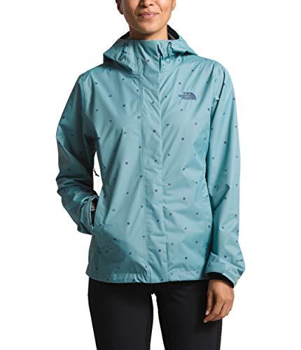 The North Face Women's Print Venture Jacket, Storm Blue Outdoor Print, Size XL (North Face Jacket Women Hood)