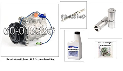 New AC Compressor & Clutch With Complete A/C Repair Kit For VW Passat V6 - BuyAutoParts 60-80401RK New (Vw Passat Ac Compressor compare prices)