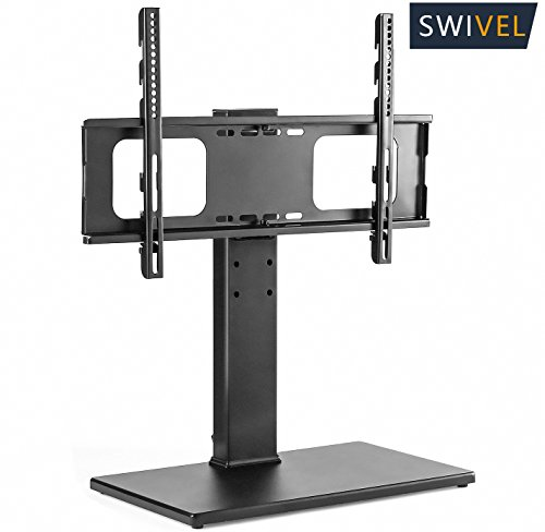 TAVR Universal TV Stand with Swivel Mount Bracket and Height Adjustable for 32 to 65 inch Plasma LCD LED Flat or Curved Screen TVs,VESA patterns up to 600mm x 400mm,UT1001 Universal Plasma Stand