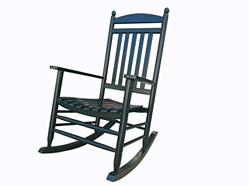 Rocking Rocker-A040DG Dark Green Porch Rocker/Rocking Chair -Easy to Assemble-Comfortable Size-Outdoor or Indoor Use ()