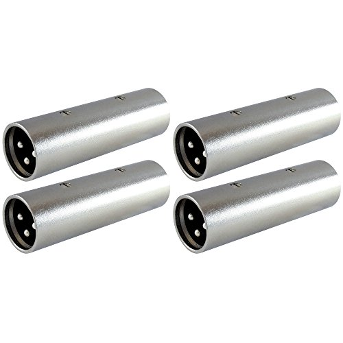 - GLS Audio XLR Male Coupler Gender Changer XLR-M Mic Barrel Mike Adapter - 4 PACK