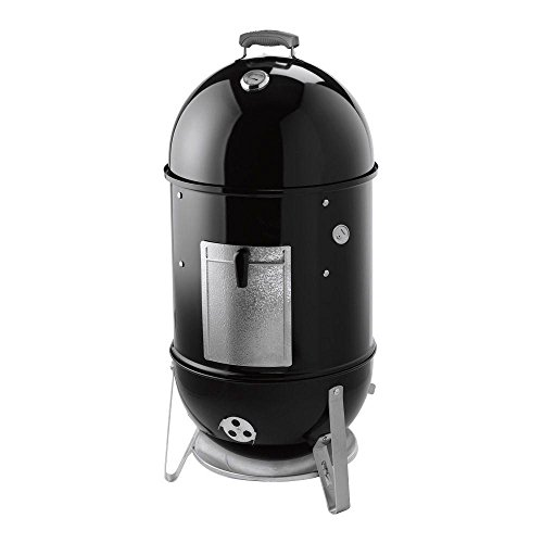 Weber Built In Cover - Weber 18-1/2 in. Smokey Mountain Cooker Smoker in Black with Cover and Built-In Thermometer