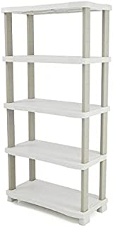 plastiken 0005667Space Saver Shelves 5Shelves, Beige, 90cm x 45cm x 184cm