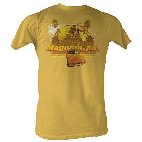 Magnum P.I. Toys Chopper and Ferrari Gold T-Shirt [Apparel] - - Ferrari Store Online