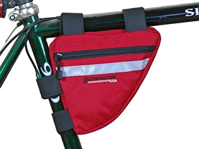 Bushwhacker Ketchum Red - Bicycle Frame Bag Cycling Triangle Pack Bike Under Seat Top Tube Bag - w/ Reflective Trim Front Rear Accessories
