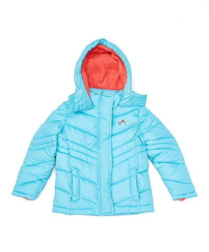 Vertical 9 Big Girls' Bubble Jacket (More Styles Available), Quilted V309 Turquoise, 7/8 (Jacket Girls Turquoise)
