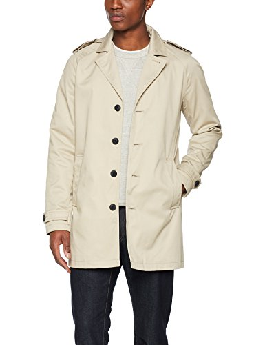 Abrigo Feather Hombre Feather PREMIUM JONES Jprdavid Noos Trenchcoat Gray Gris amp; JACK Gray para Zq4W8YR