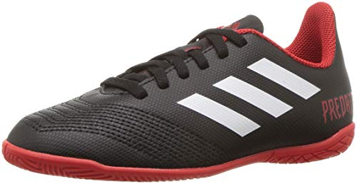 adidas Unisex Predator Tango 18.4 Indoor Soccer Shoe, Black/White/red, 5 M US Big Kid
