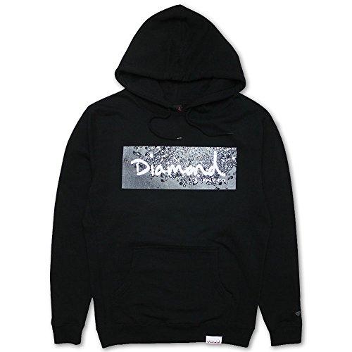 Diamond Supply Co Scatter Box Logo Hoodie Black by Diamond Supply Co