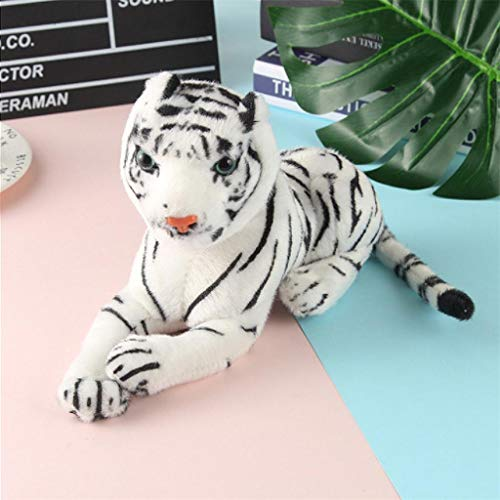 Dergo ☀Toy Simulation Yellow White Tiger Plush Toy Pillow Comfort Decorative Pillow (A)