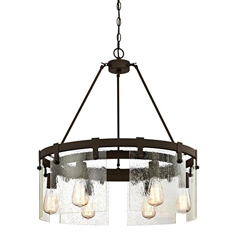 Westinghouse 26 Inch - Westinghouse Lighting 6352200 Chandelier, Oil Rubbed Bronze