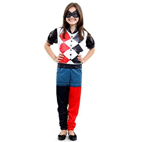 Fantasia Arlequina Dc Super Hero Girls Infantil 22067-G Sulamericana Fantasias G 10/12 Anos