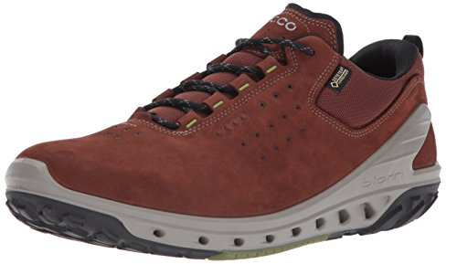 ECCO Men's Biom Venture Leather Gore-TEX Tie Hiking Shoe Brandy, 43 EU / 9-9.5 US (Leather Brandy Footwear)