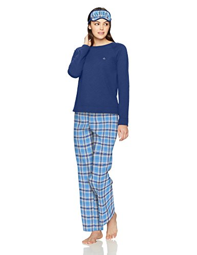 Tommy Hilfiger Women's Lounge Three Piece Set, Sugar Baby Plaid, S