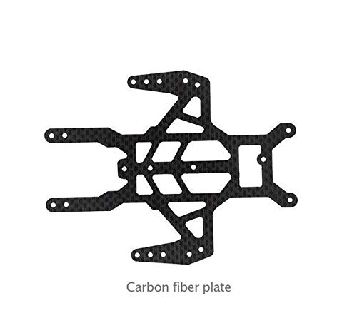 Hockus Accessories 2PCS 1.5mm S2 Chassis Plate Carbon Fiber/Glass Fiber Plate Swallows Board Spare Parts for DIY Mini 4WD Car Model - (Color: 2xcarbon Fiber Plate)