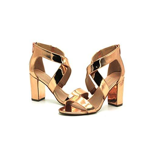 talon chaussures profonde bouche talons strass Mesdames hauts simples blue fine confortables peu boucle XIE pointus carré Wq7FPHqw