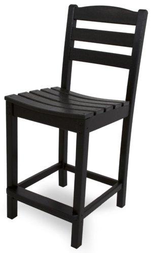 POLYWOOD TD101BL La Casa Café Counter Side Chair, Black