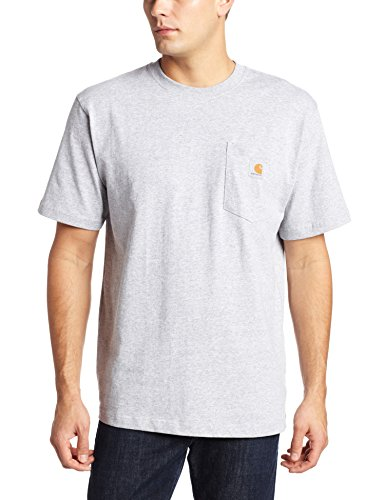 Carhartt Men's K87 Workwear Pocket Short Sleeve T-Shirt (Regular and Big & Tall Sizes), Heather Grey, X-Large