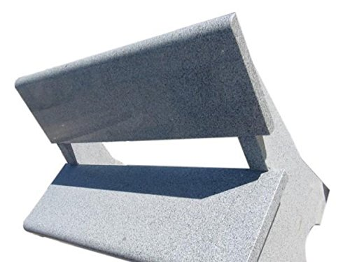 TrendLine Granitbank grau Sitzhöhe 45 cm 120 x 60 x 87 cm