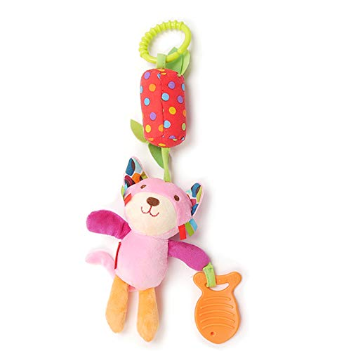 Baby Rattles Animal Cat Shaped Wind Chime Baby Infant Plush Stroller Hanging Toys Rattles