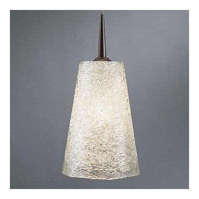 - Bling II 1 Light G9 Monopoint Line Voltage Pendant Finish: Bronze, Shade Color: White