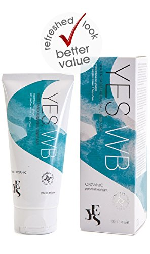 YES Personal Lubricants Water Based Formula 100ml / 3.38oz | Organic Intimate Lubricant & Vaginal Moisturizer (Sensuous Body Moisturizer)