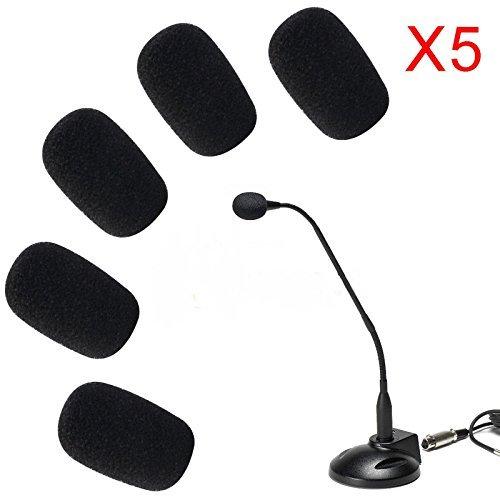 aniceseller 5x 5Pack Pequeño Micrófono Mic Parabrisas Esponja Suave Espuma de Mic Cover Skin
