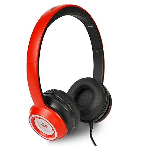Monster N-Tune High Performance On-Ear Headphones w/3.5mm Plug (Red/Black)