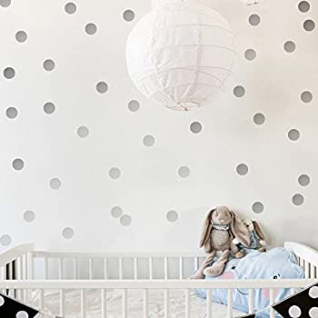 DCTOP Silver Wall Decal Dots(108 Decals) Easy To Peelu0026Stick Polka Dots Wall  Decals Part 65