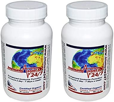Aloha Medicinals – Immune Assist 24/7 - Daily Immune Support – Cordyceps militaris - Cordyceps sinensis - Mushroom Supplement – Antiviral Properties – Certified Organic – 960mg – 90 Capsules (2 Pack)