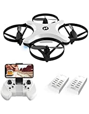 Holy Stone HS220 FPV Drone with HD Camera 720P RC Quadcopter Live Video WIFI APP Control, Altitude Control, Headless Mode, Foldable Arms, Touch Swift, Mini Drone for Kids and Beginners, White
