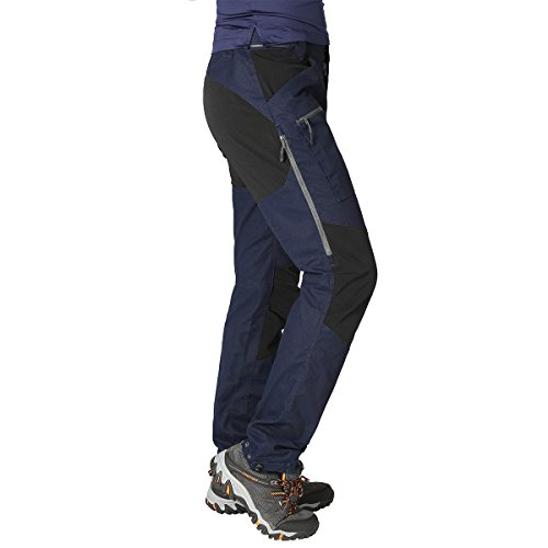ZOOMHILL Mens Pro Hiking Stretch Pants Cargo Trouser Water-Resistant Tactical Outdoor Working Pants (Navy, XL) ()