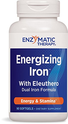 Enzymatic Therapy Energizing Iron with Eleuthero Softgels, 90 Count (Ultimate Enzymatic Therapy Iron)