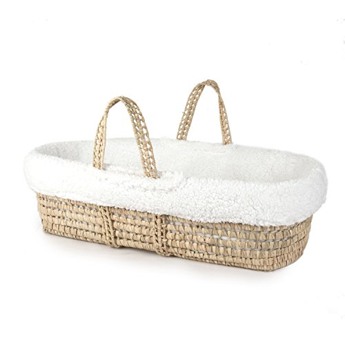 - Tadpoles Super Soft Sherpa Moses Basket and Bedding Set, White