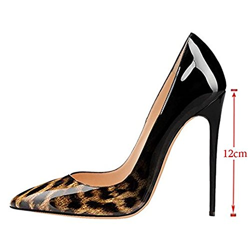 MIUINCY Women's High Heels Ladies Pointed Toe Stiletto Shoes Bridal Party Dress Pumps PGphyL1