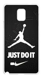 LILICHEN Cool Desgin NBA Chicago Bulls Air Michael Jordan -- JUST DO IT -- Case Cover for SamSung Galaxy Note4 (Laser Technology) -- Desgin By LILICHEN
