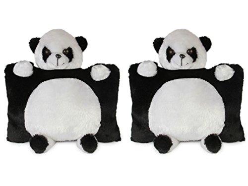 Deals India Panda Pillow  40 cm, Pack of 2
