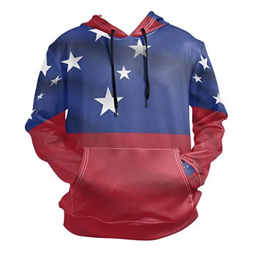 Pins Lapel Samoa (super3Dprinted Samoa Flag Men's Pullover Hooded Sweatshirt)