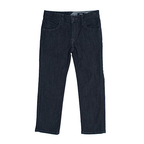 Volcom Little Boys' Vorta Jeans, Black Rinse, 7X