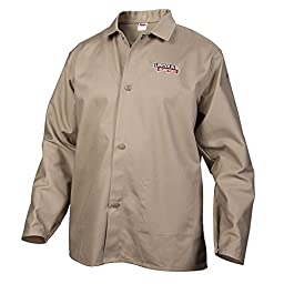 Lincoln Electric Khaki Large Flame-Resistant Cloth Welding Jacket