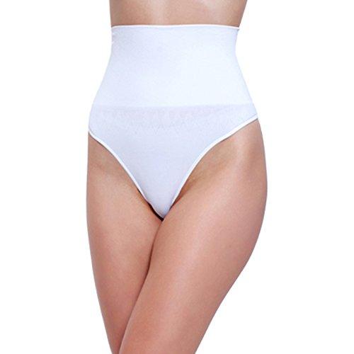 L&K-II - Braguitas moldeadoras - Básico - para mujer 2er Pack (Schwarz+Weiß) Large