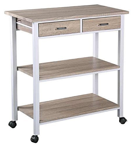 Review Home Basics Kitchen Trolley with 2 Drawers LA By Home Basics by Home Basics