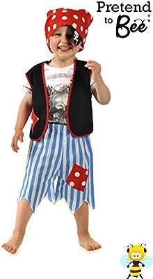 Boys Toys - Disfraz de halloween pirata para niño, talla 3-5 años ...
