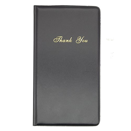 20PCS Check Presenter Restaurant Money Receipt Cover PU Leather-9''×4.7'' by WFD.L