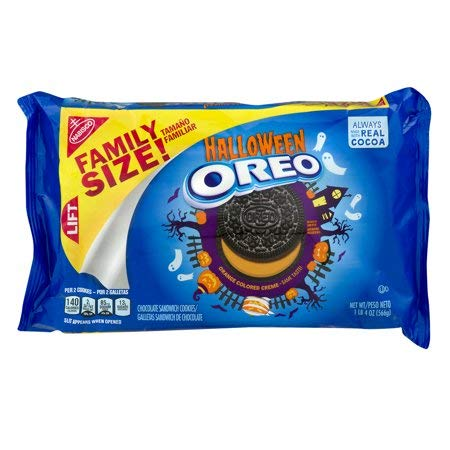 Oreo Halloween Chocolate Sandwich Cookies, Family Size 20 Ounce Package -